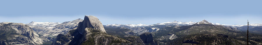 Half Dome Panorama Photograph