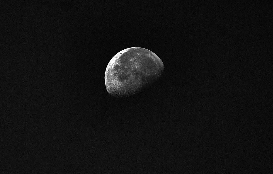 Nature Photograph - Half Moon by Johann Todesengel