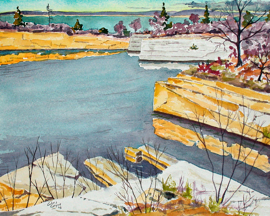 Halibut Point Quarry - Rockport Painting