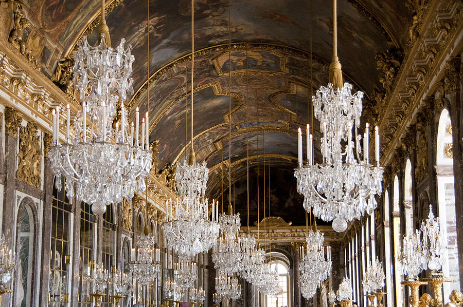 Hall Of Mirrors Palace Of Versailles France Photograph By