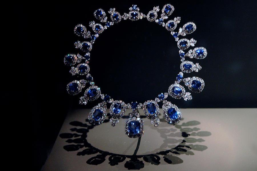 Usa Photograph - Hall Sapphire And Diamond Necklace by LeeAnn McLaneGoetz McLaneGoetzStudioLLCcom