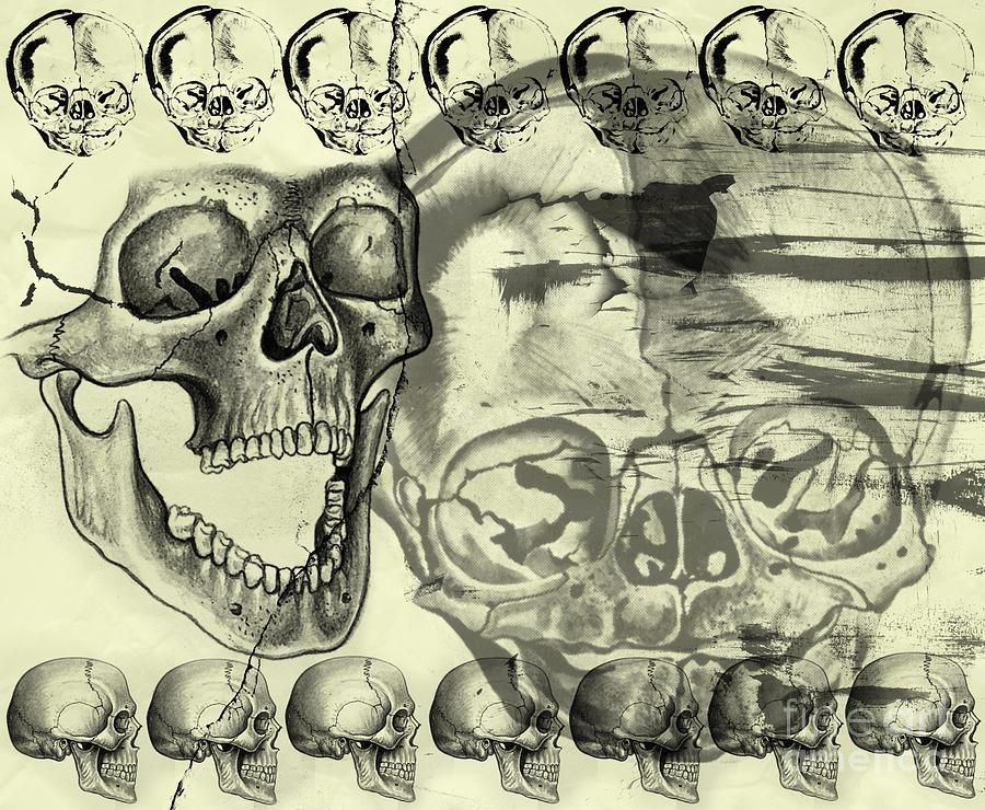 Halloween Digital Art - Halloween In Grunge Style by Michal Boubin