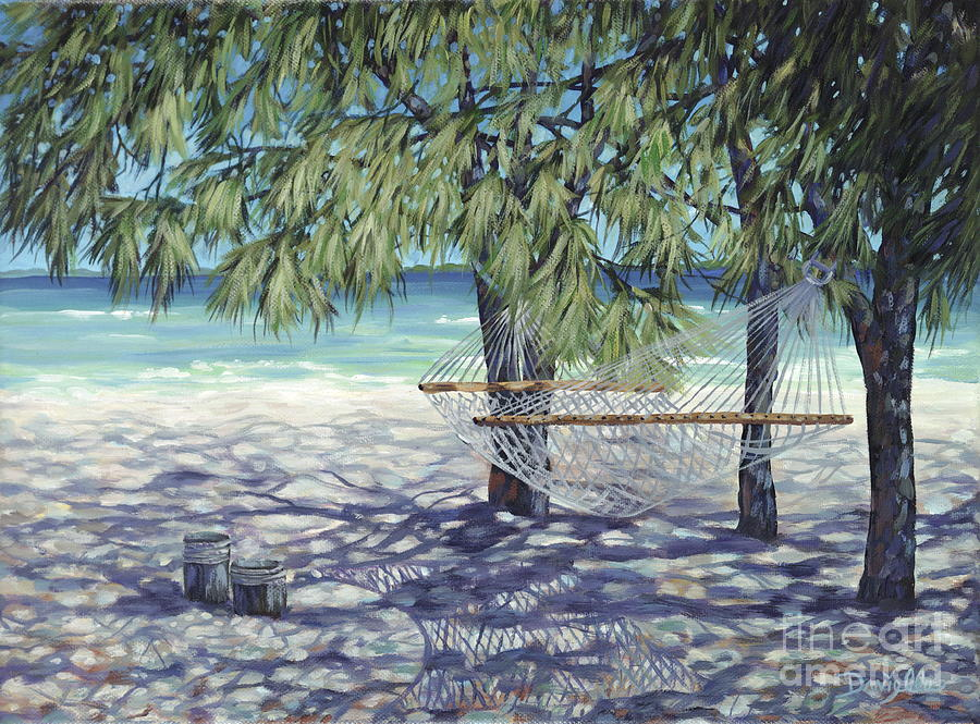 Bahamas Painting - Hammock For Two by Danielle  Perry