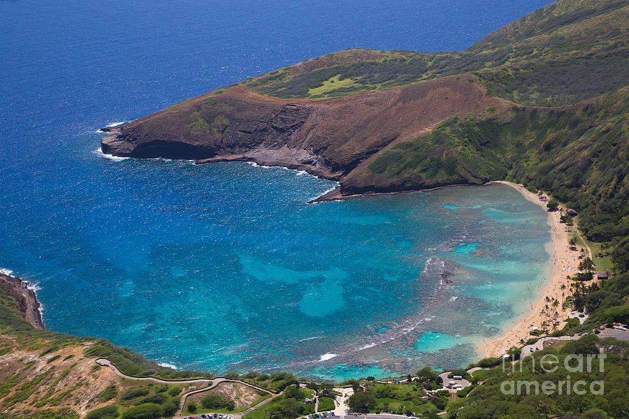 Hanauma Bay Aerial, Oahu, Hawaii Photograph