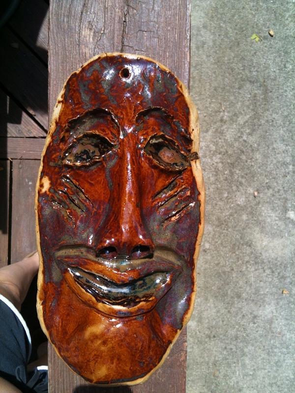 Mask Ceramic Art - Hand Made Mask by Emily Osborne