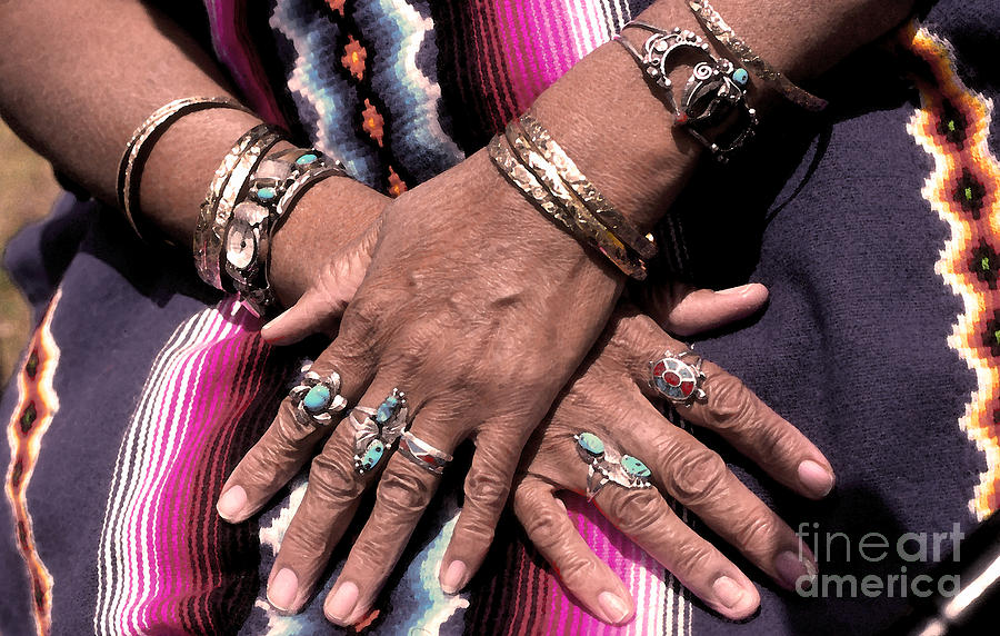 Native American Indian Photograph - Hands Of The Earth by Linda  Parker
