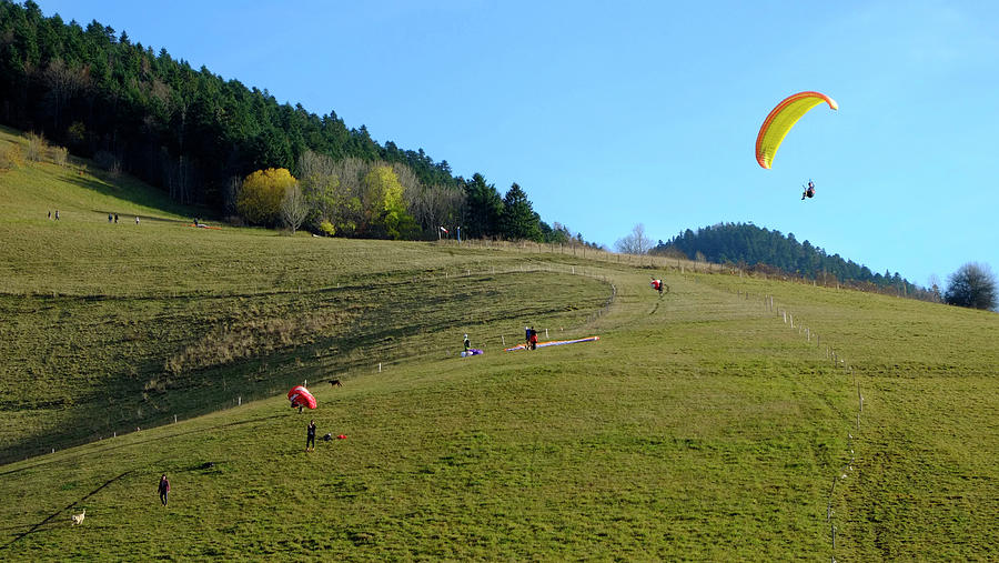 Hang Gliding In The Prealps Photograph
