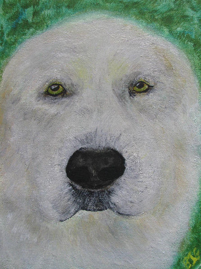 Dog Lab Yellow Labrador Retriever Dogs Pup Puppies Domestic Animal Animals Pet Pets Painting - Hanmee 1 by Barbara Giordano