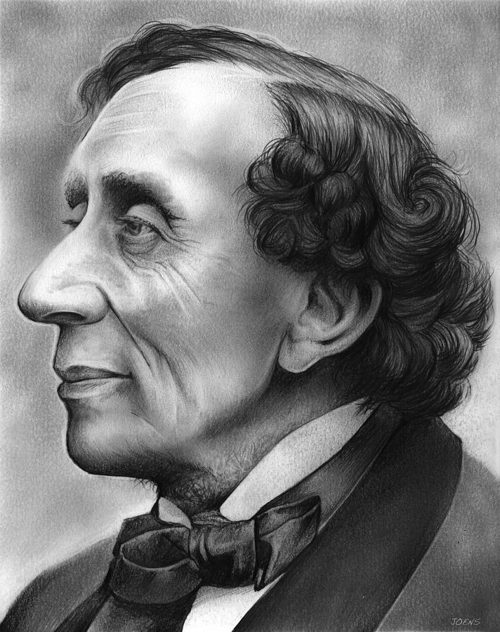 Hans Christian Andersen Drawing