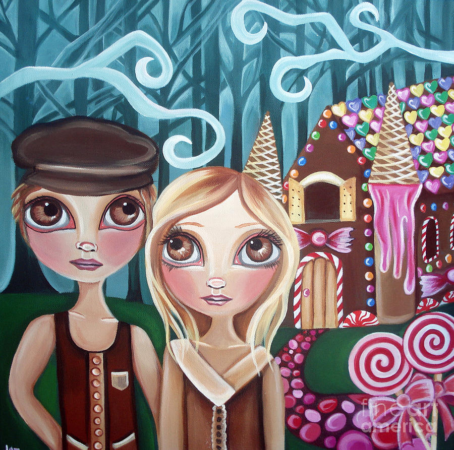 Hansel Painting - Hansel And Gretel by Jaz Higgins