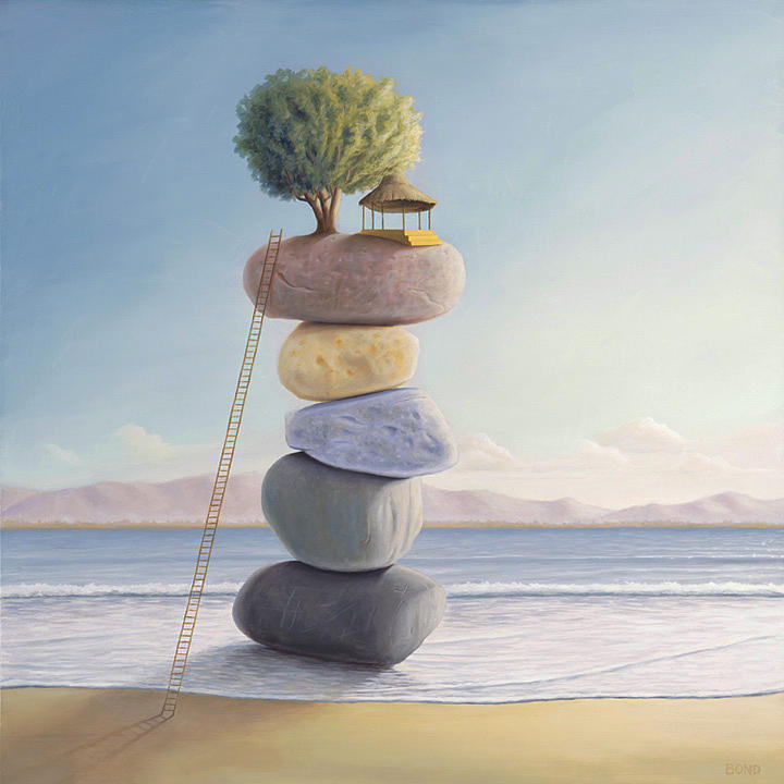 Balance Painting - Happiness In Perpetuity by Paul Bond