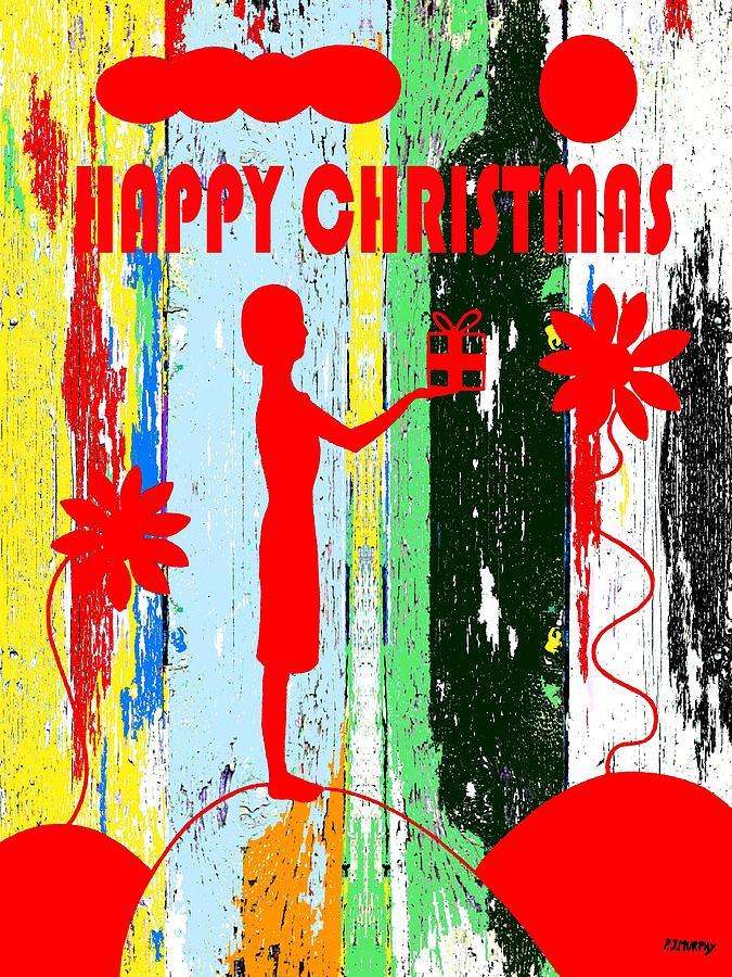 Christmas Painting - Happy Christmas 14 by Patrick J Murphy