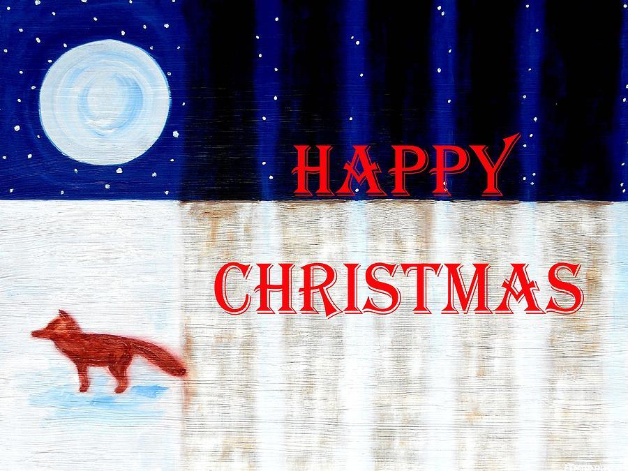 Wildlife Painting - Happy Christmas 28 by Patrick J Murphy