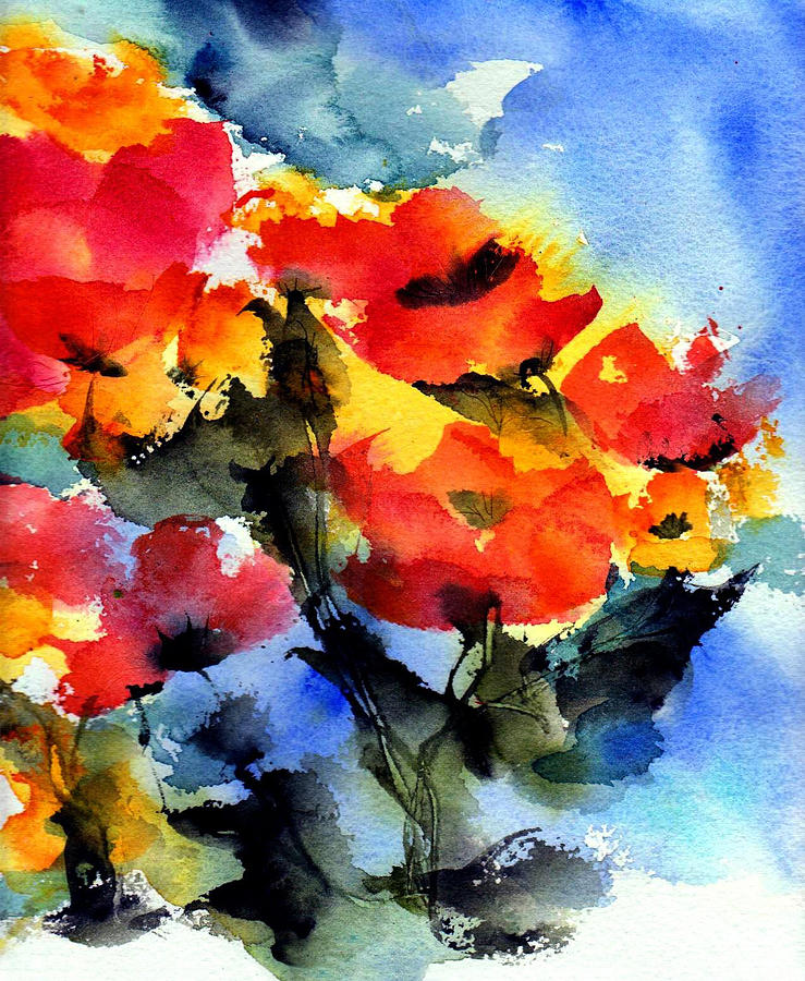Flowers Painting - Happy Day by Anne Duke