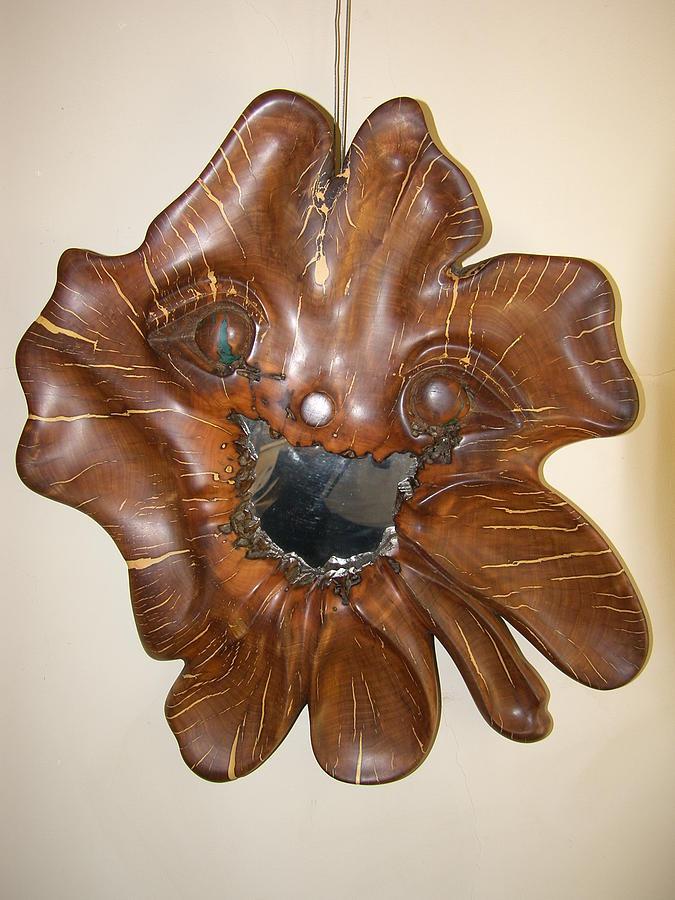 Wood Sculpture Sculpture - Happy Face by Lionel Larkin