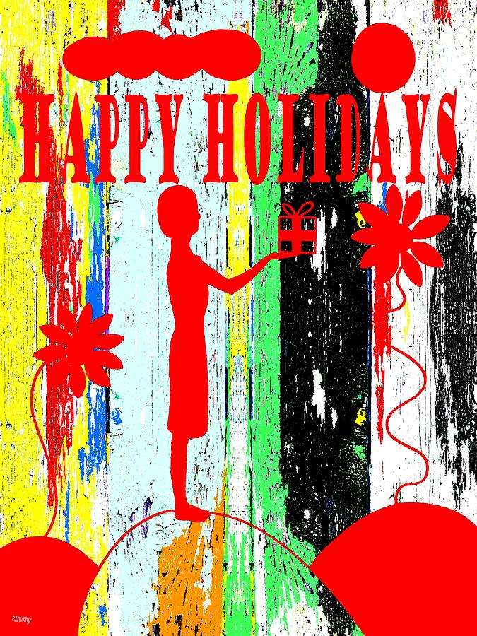 Christmas Painting - Happy Holidays 62 by Patrick J Murphy