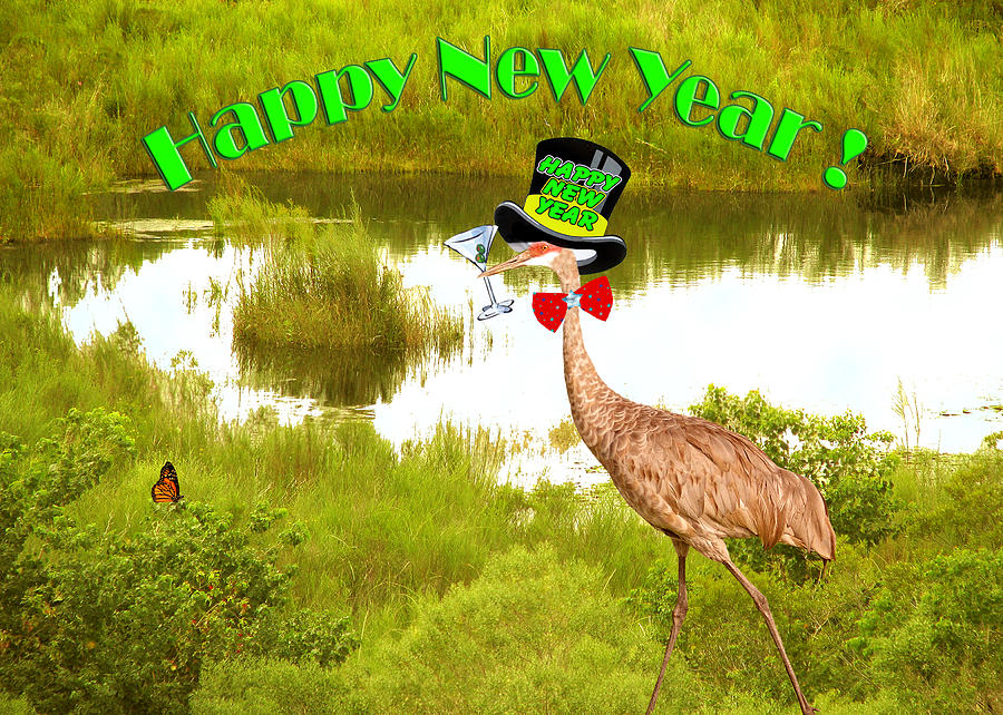 New Years Card Photograph - Happy New Year Card by Adele Moscaritolo