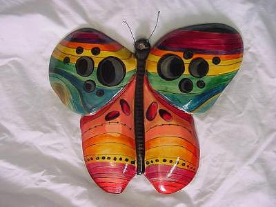 Carved Free Hand Painting - Happy Pants Butterfly-sold by Lisa Ruggiero