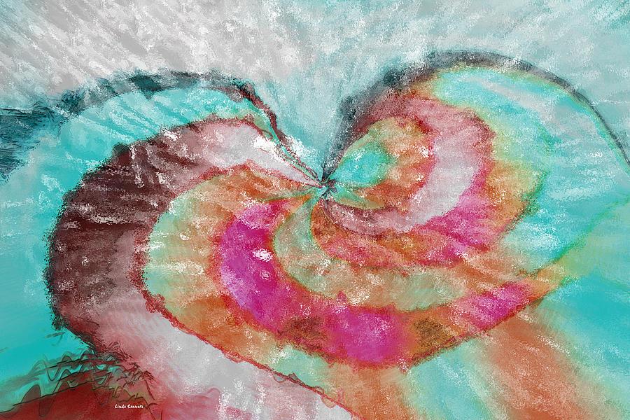 Abstract Art Digital Art - Happy Valentines Day by Linda Sannuti