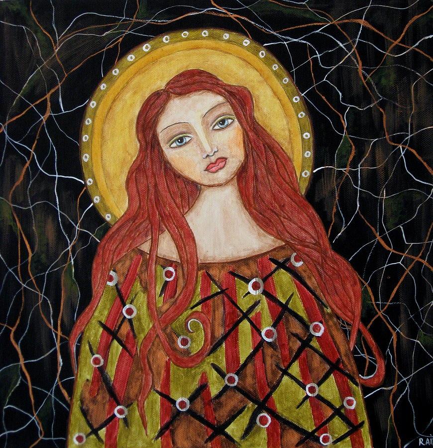 Folk Art Paintings Paintings Painting - Harachel by Rain Ririn