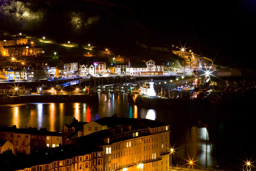 Harbour At Night Photograph