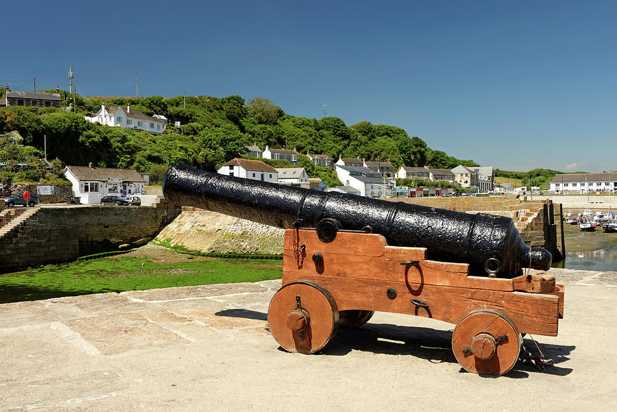 Harbour Gun - Porthleven Photograph
