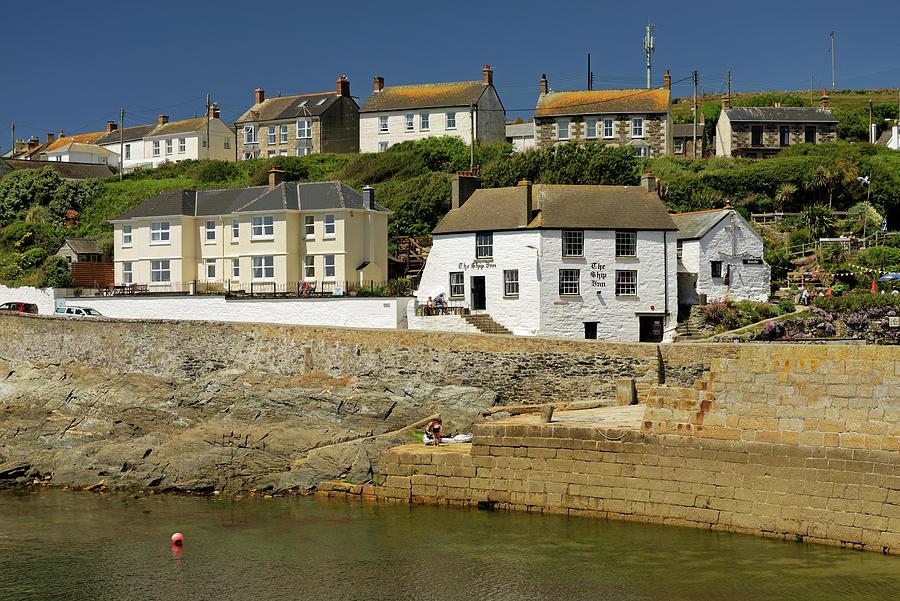 Harbourside Buildings - Porthleven Photograph