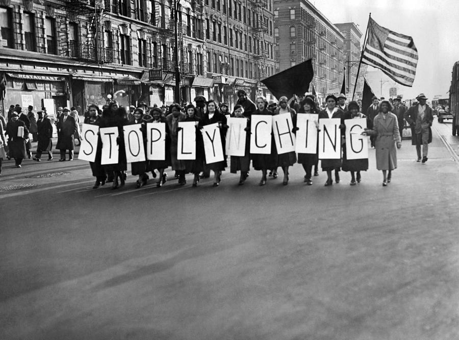 Harlem Protests The Scottsboro Verdict Photograph