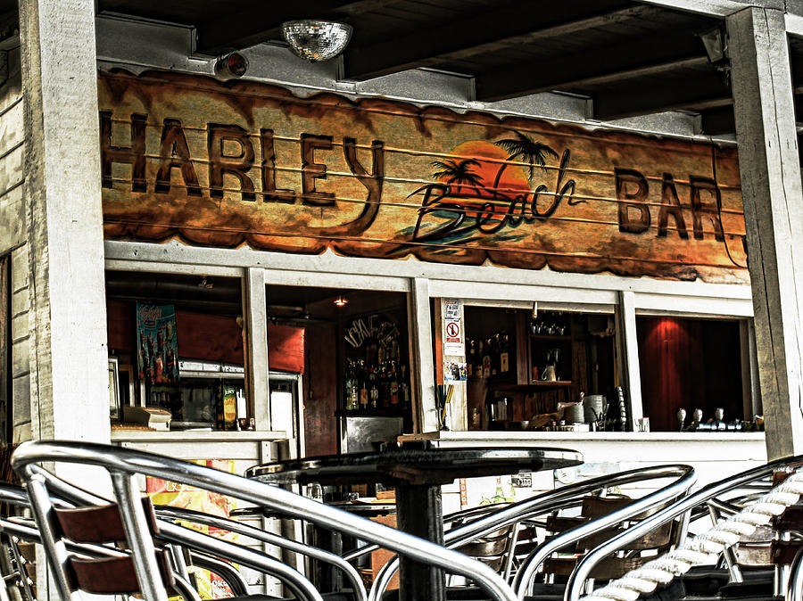Bar Photograph - Harley Beach Bar by Jasna Buncic