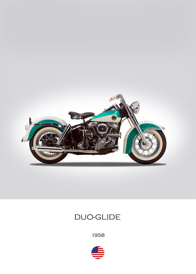 Duo-glide Photograph - Harley-davidson Duo-glide by Mark Rogan