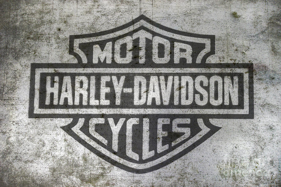 Harley Davidson Logo On Metal Digital Art