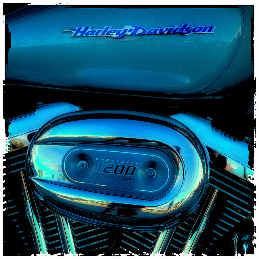 Classic Cycle Photograph - Harley Sportster 1200 by David Patterson