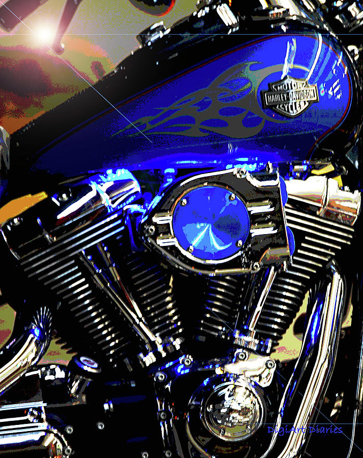 Harley Davidson Photograph - Harleys Twins by DigiArt Diaries by Vicky B Fuller