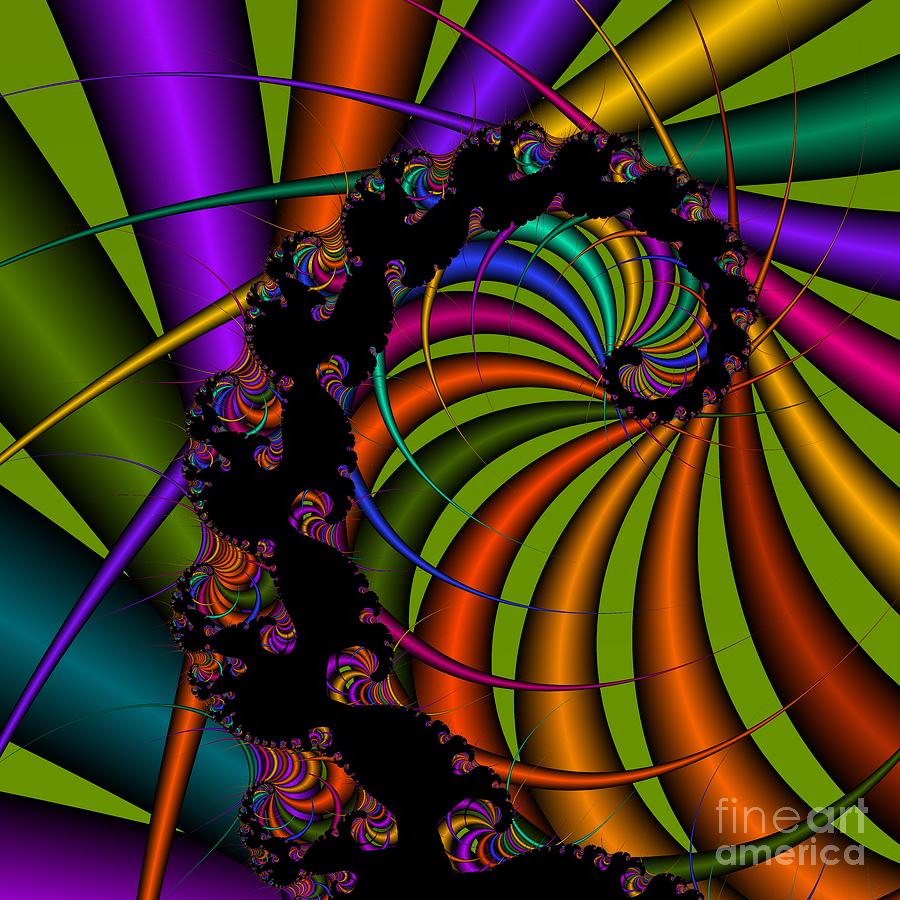 Abstract Digital Art - Harp 112 by Rolf Bertram