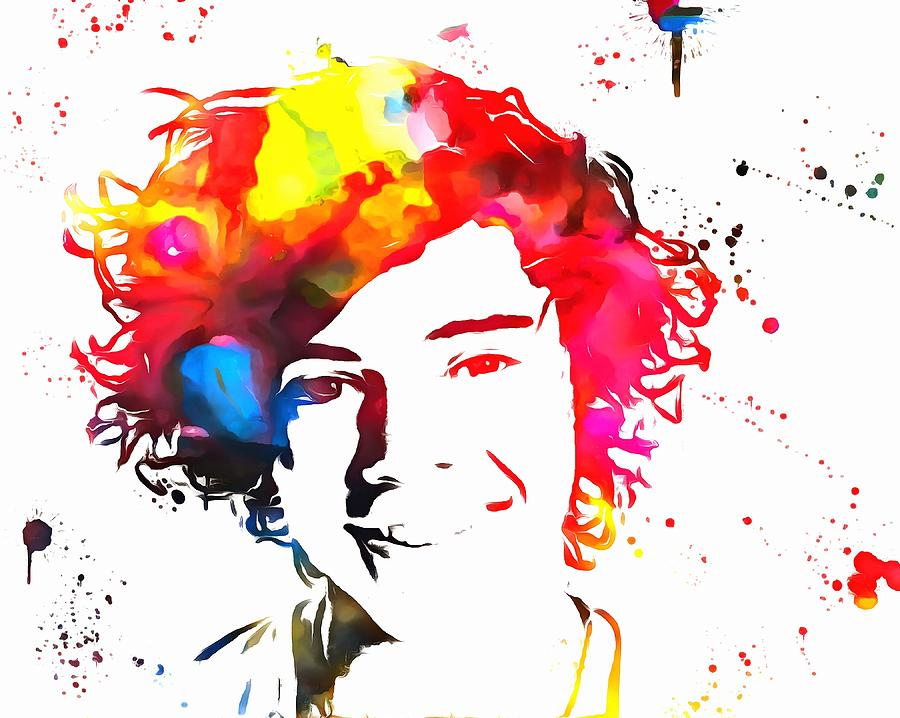 Harry styles paint splatter painting by dan sproul for Types of painting techniques