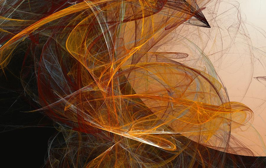 Abstract Expressionism Digital Art - Harvest Moon by David Lane