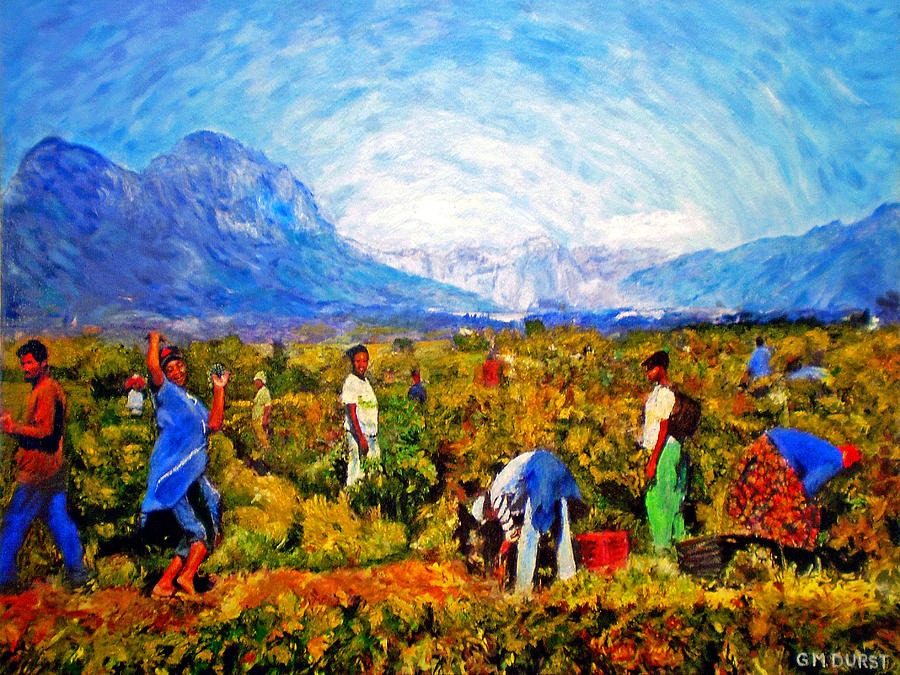Vineyard Painting - Harvest Time by Michael Durst