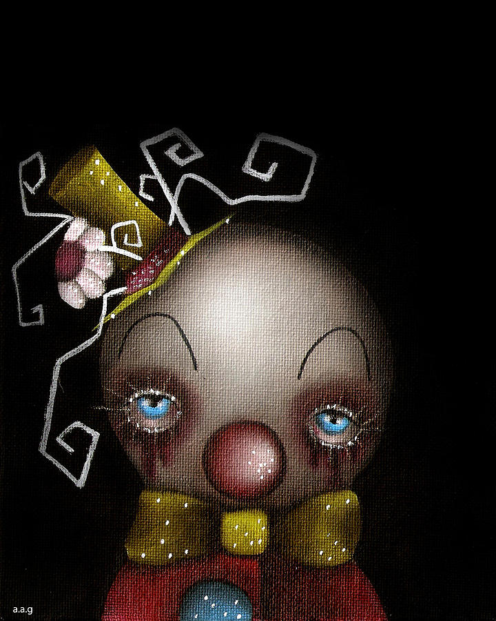 Abril Andrade Griffith Painting - Hatter Clown by  Abril Andrade Griffith