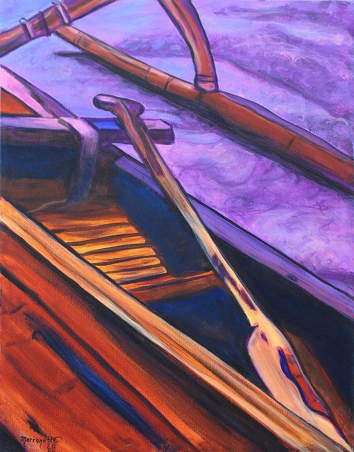 Canoe Painting - Hawaiian Canoe by Marionette Taboniar