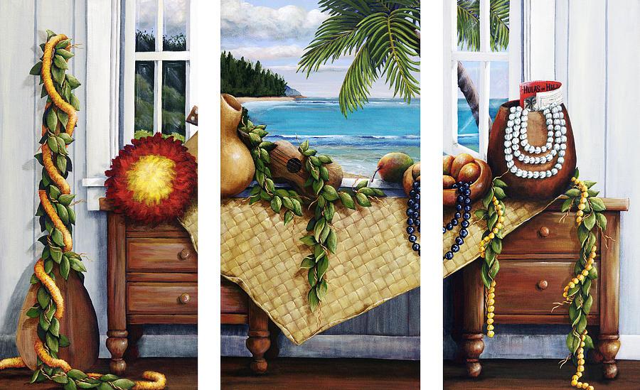Hawaiian Still Life With Haleiwa On My Mind Painting