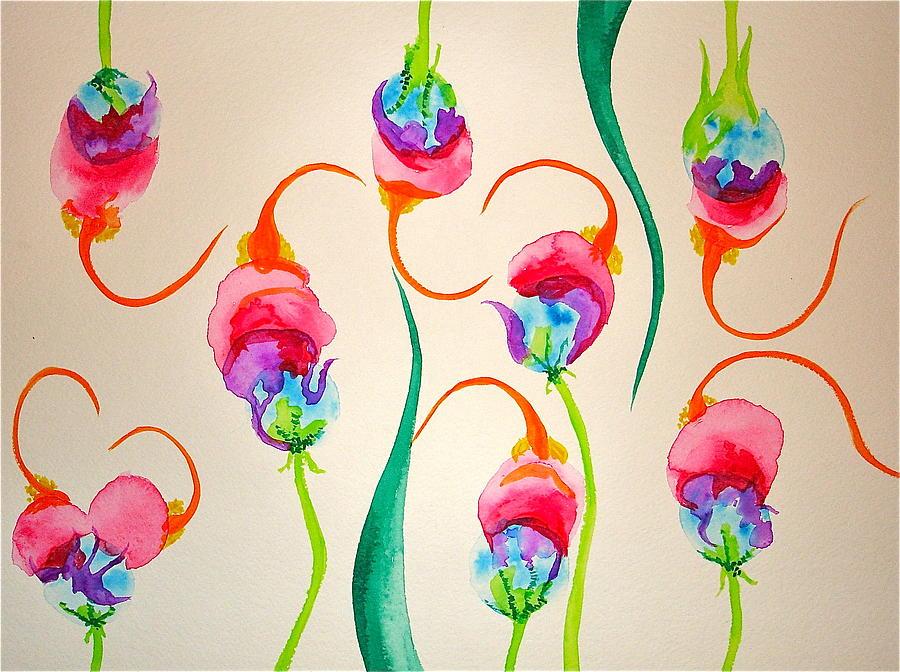 Hawaiian Warrior Painting - Hawaiian Warrior Upside-down Flowers by Erika Swartzkopf