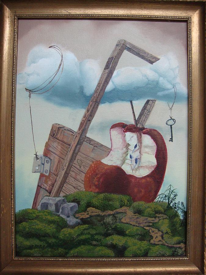 Apple Painting - Hay Puertas Que No Se Cierran by Carlos Rodriguez Yorde