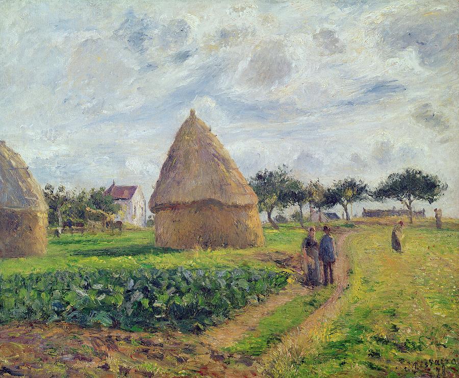Haystacks Painting - Haystacks by Camille Pissarro