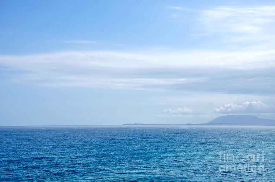Hazy Ocean View Photograph