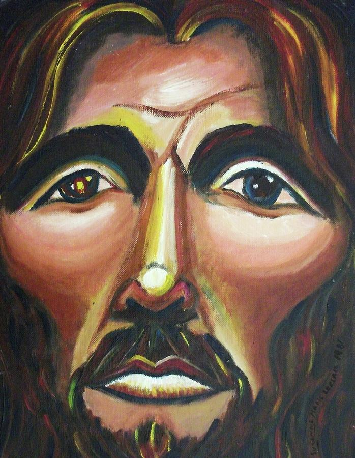 Jesus Painting - He Cares by Suzanne  Marie Leclair