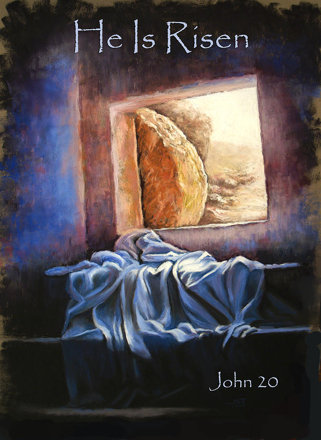 Christ Pastel - He Is Risen by Susan Jenkins