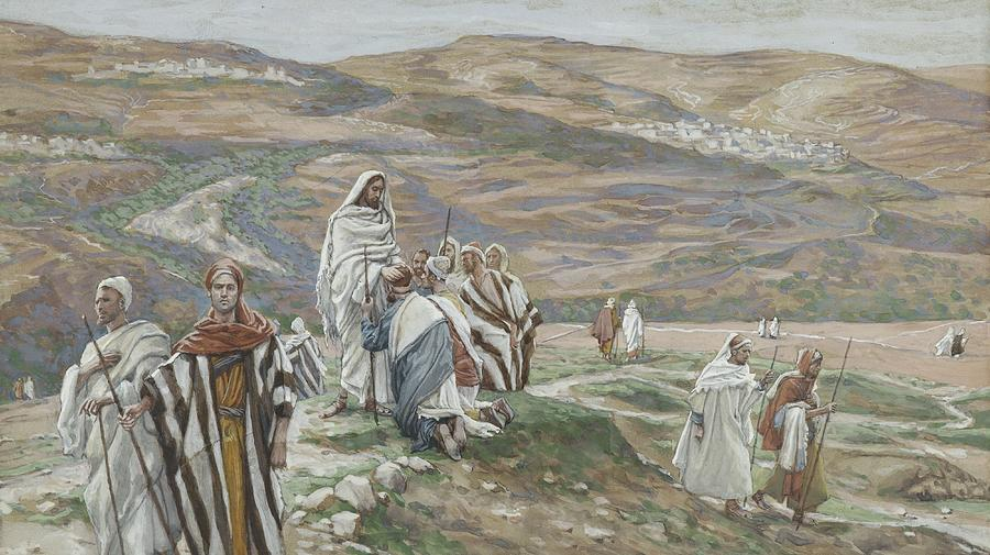 Tissot Painting - He Sent Them Out Two By Two by Tissot