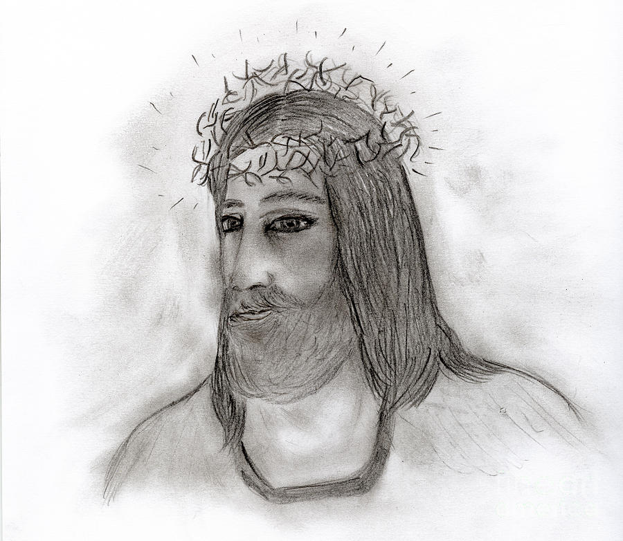 Jesus Drawing - He Walks With Me by Sonya Chalmers