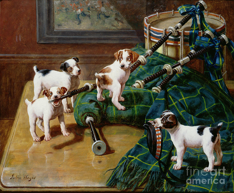 He Who Pays The Piper Calls The Tune By John Hayes (fl.1897-1902) Painting - He Who Pays The Piper Calls The Tune by John Hayes