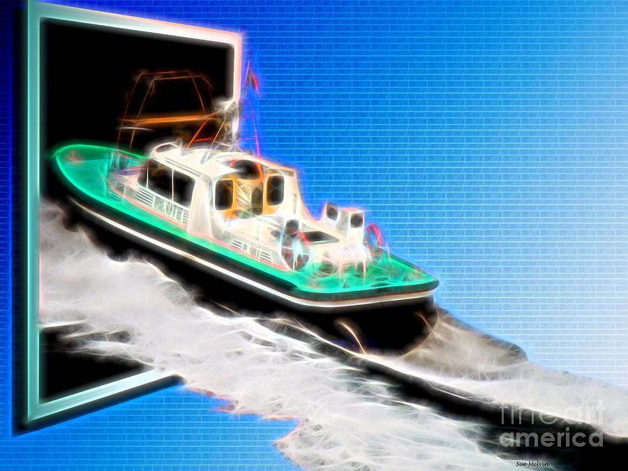 Surrealism Digital Art - Heading Back To Sea by Sue Melvin
